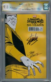 Amazing Spider-man #692 1960s Yellow Variant CGC 9.8 Signature Series Signed Stan Lee John Romita Sr Marvel comic book